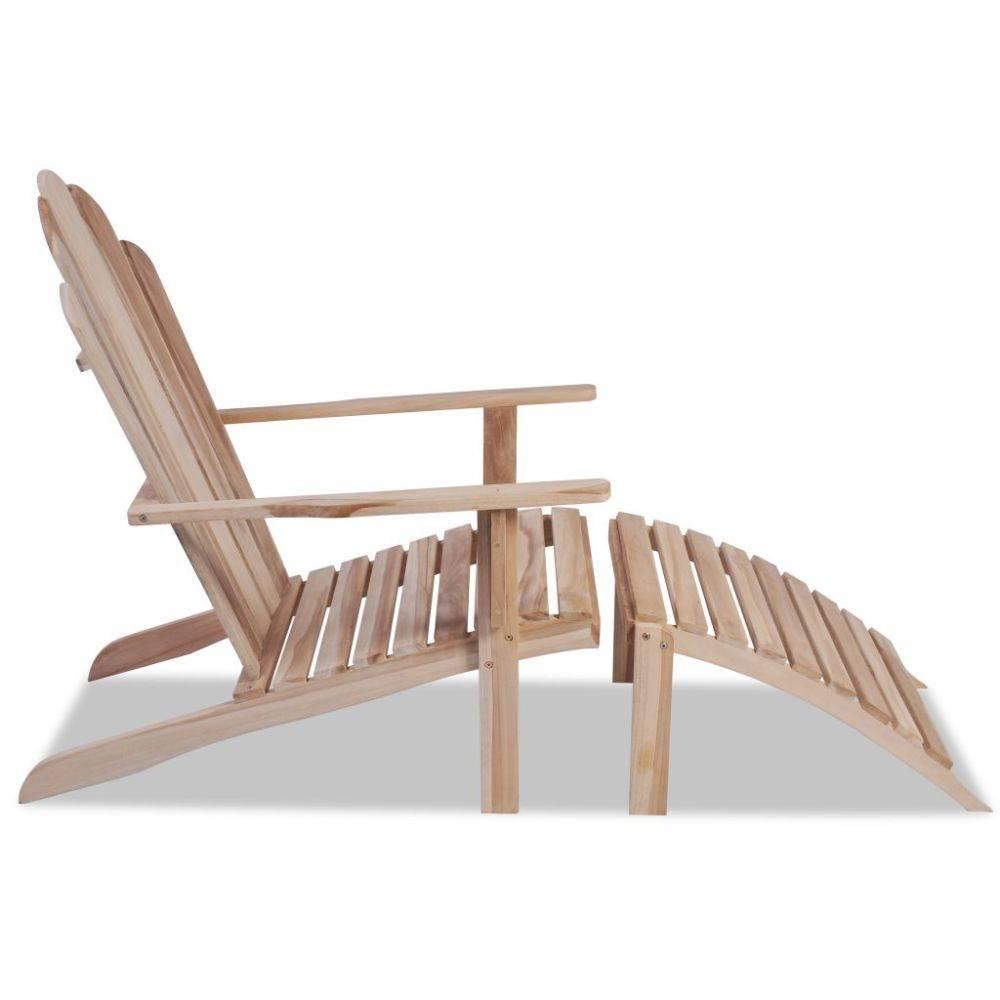 vidaXL Teak Adirondack stoel