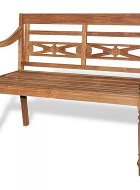 vidaXL Batavia bank teakhout met 2 zitplaatsen 120 cm