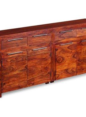 vidaXL Dressoir 160x35x75 cm massief sheesham hout