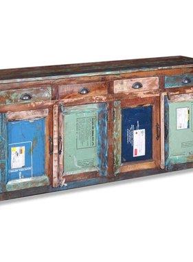 vidaXL Dressoir met 4 deuren 4 lades massief gerecycled hout