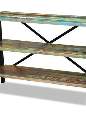 vidaXL Dressoir 3 planken massief gerecycled hout