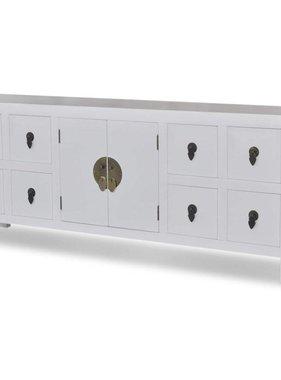 vidaXL Aziatisch dressoir met 8 lades en 2 deuren hout