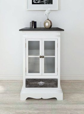 vidaXL Kast met 2 deuren en 1 lade hout wit