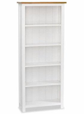 vidaXL Boekenkast 5 planken 60x22,5x140 cm massief eikenhout