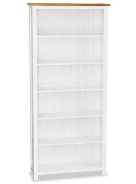 vidaXL Boekenkast met 6 planken 80x30x180 cm massief eikenhout