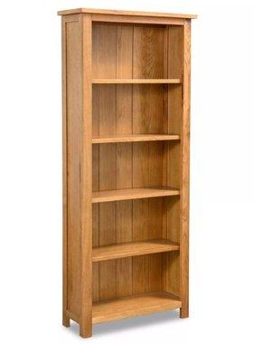 vidaXL Boekenkast 5 planken 60x22,5x140 cm eikenhout