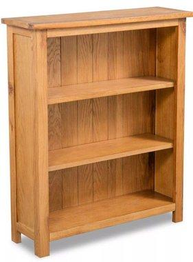 vidaXL Boekenkast met 3 planken eikenhout 70x22,5x82 cm