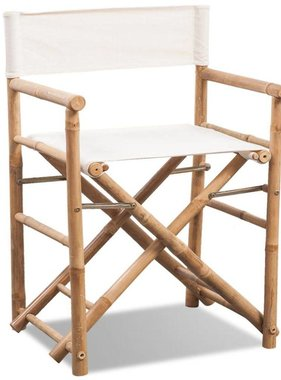 vidaXL Regisseursstoel inklapbaar bamboe en canvas