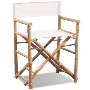 Regisseursstoel inklapbaar bamboe en canvas