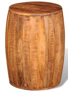 vidaXL Kruk in vorm van trommel ruw mangohout