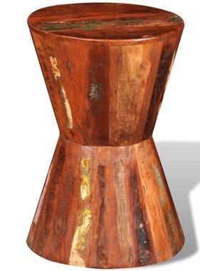 vidaXL Kruk rond gerecycled hout