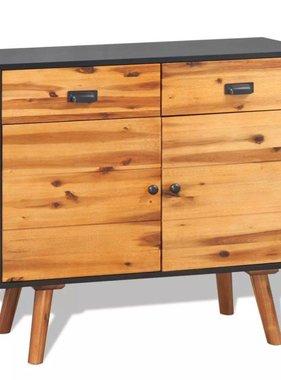 vidaXL Dressoir 90x33,5x83 cm massief acaciahout