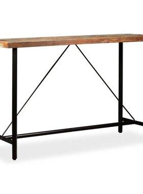 vidaXL Bartafel 180x70x107 cm massief gerecycled hout