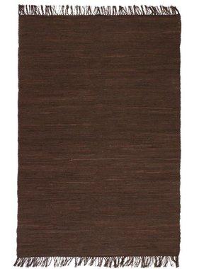 vidaXL Vloerkleed Chindi handgeweven 80x160 cm katoen bruin