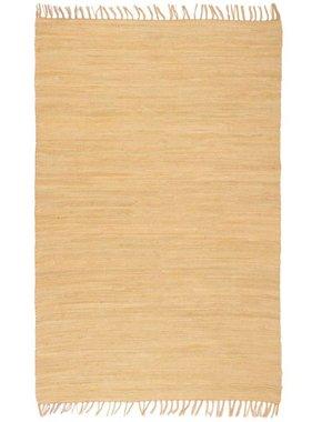 vidaXL Vloerkleed Chindi handgeweven 160x230 cm katoen beige