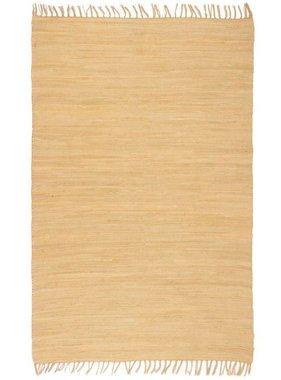 vidaXL Vloerkleed Chindi handgeweven 120x170 cm katoen beige
