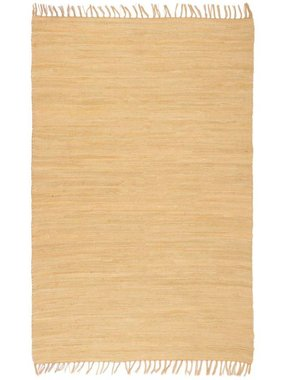 vidaXL Vloerkleed Chindi handgeweven 80x160 cm katoen beige