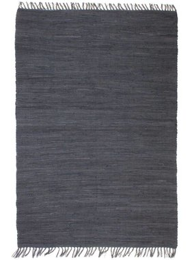 vidaXL Vloerkleed Chindi handgeweven 200x290 cm katoen antraciet