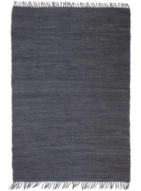 vidaXL Vloerkleed Chindi handgeweven 160x230 cm katoen antraciet