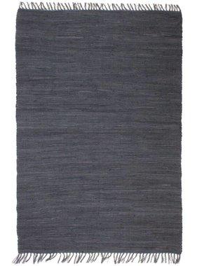 vidaXL Vloerkleed Chindi handgeweven 120x170 cm katoen antraciet