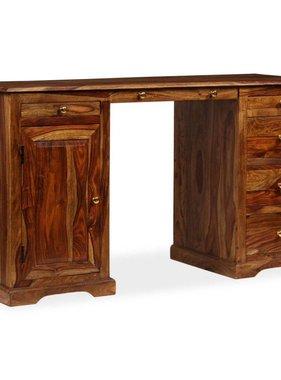 vidaXL Bureau 140x50x76 cm massief sheesham hout