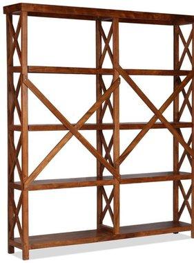 vidaXL Boekenkast 160x30x180 cm acaciahout met sheesham afwerking