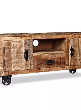 vidaXL Tv-meubel ruw mangohout 120x30x50 cm