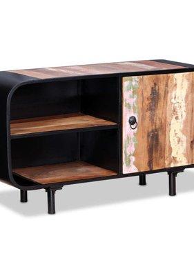 vidaXL Tv-meubel gerecycled hout 90x30x48 cm