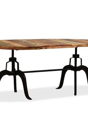 vidaXL Eettafel 180 cm massief gerecycled hout en staal