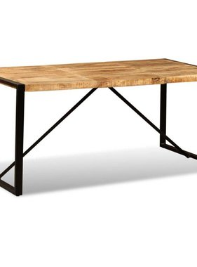 vidaXL Eettafel 180 cm massief ruw mangohout