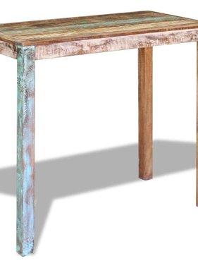 vidaXL Bartafel massief gerecycled hout 115x60x107 cm