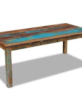 vidaXL Eettafel massief gerecycled hout 200x100x76 cm