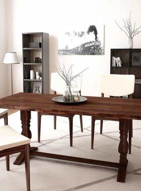 vidaXL Tafel met kolompoot opklapbaar 180x80x75 cm massief acaciahout