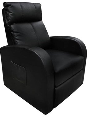 vidaXL Massagefauteuil met verwarming en afstandsbediening zwart