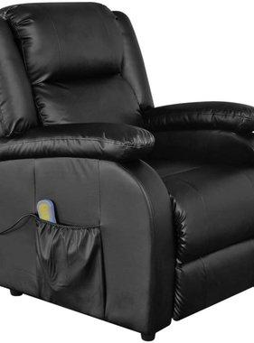 vidaXL Elektrische massagestoel kunstleer zwart