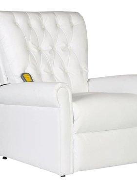 vidaXL Massagestoel verstelbaar kunstleer wit