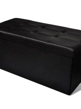 vidaXL Bankje met opslag (zwart)