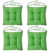 vidaXL Stoelkussens 40x40x8 cm groen 4 st