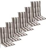 vidaXL Tuinkussens 6 st 120x52 cm grijze streep