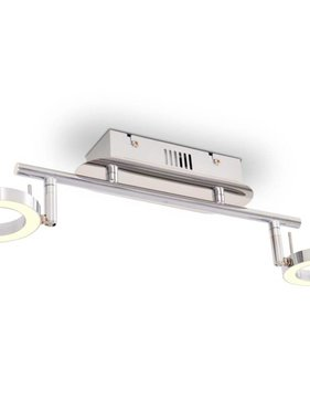 vidaXL LED-wand/plafondlamp met 2 lampen warm wit