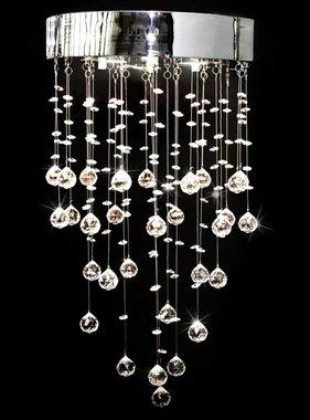 vidaXL Kroonluchter met 180 kristallen