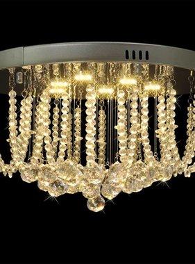 vidaXL LED Plafondlamp met kristallen kroonluchter, 45 cm Diameter
