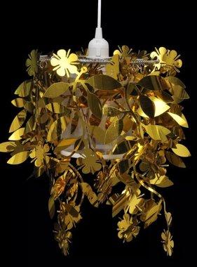vidaXL Kroonluchter met pailletten in de vorm van blaadjes 21,5 x 30 cm goud