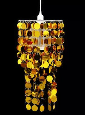 vidaXL Kroonluchter met ronde pailletten 26 x 56 cm (goud)