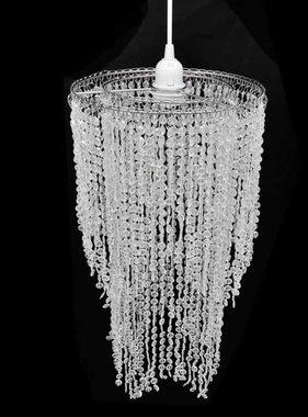 vidaXL Kroonluchter met kristallen 26,5 x 50 cm