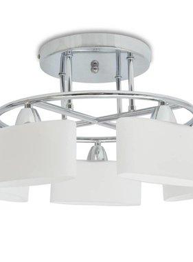 vidaXL Plafondlamp met ellipsvormige glazen kappen 5xE14 200W