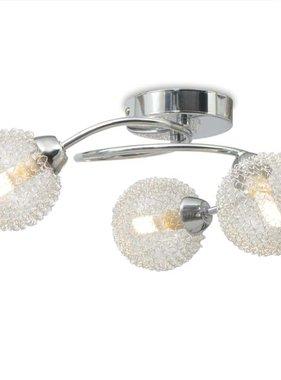 vidaXL Plafondlamp met 3 LED-lampen G9 120 W