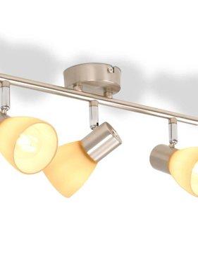 vidaXL Plafondlamp met 3 spotlights E14 zilver