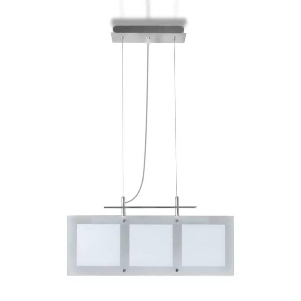 vidaXL Eettafel glazen hanglamp (3 x E14)