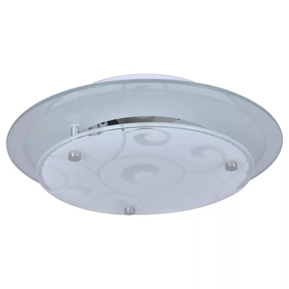 vidaXL Plafondlamp rond glas 1xE27 patroon